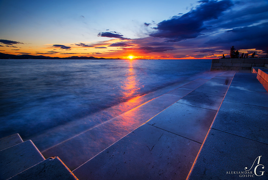 Farewell from our star on Zadar's Sea Organ