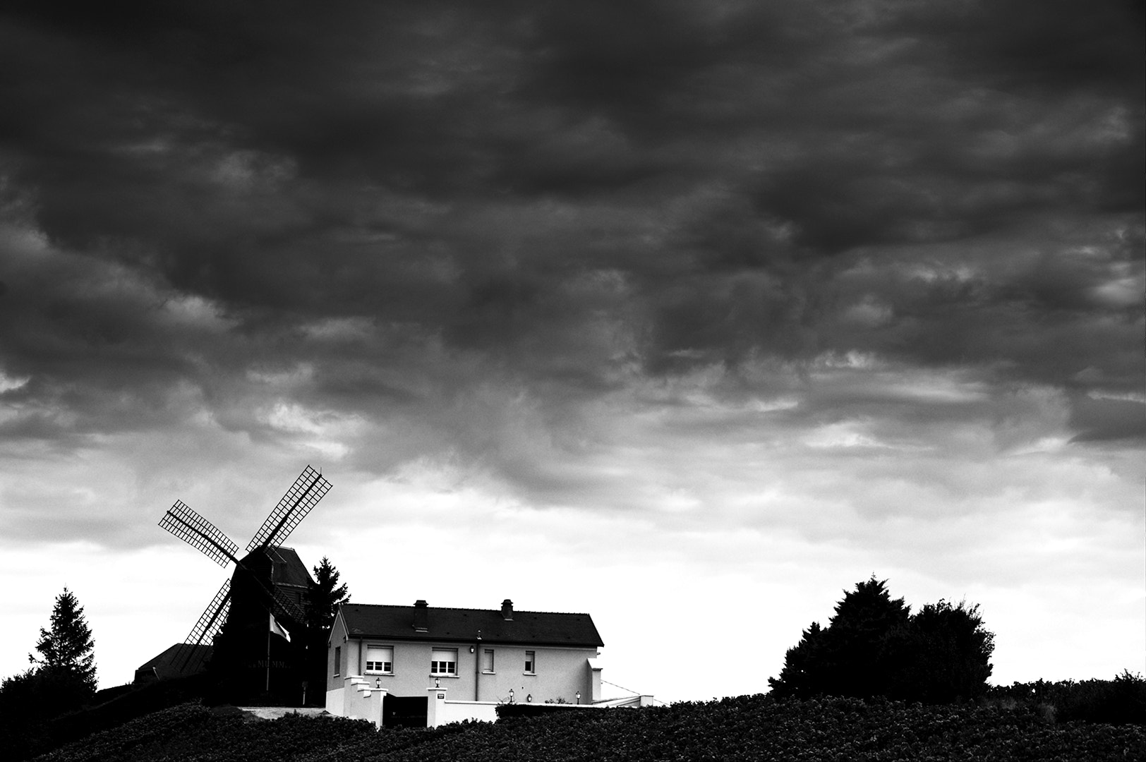 Photograph Champagne Windmill by James Billings on 500px