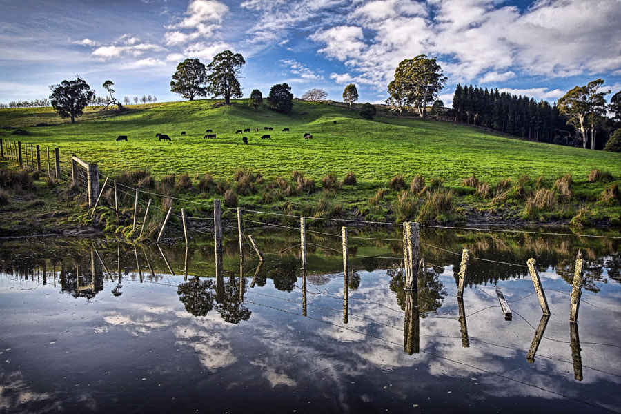 Photograph Dam Reflections by Peter Daalder on 500px