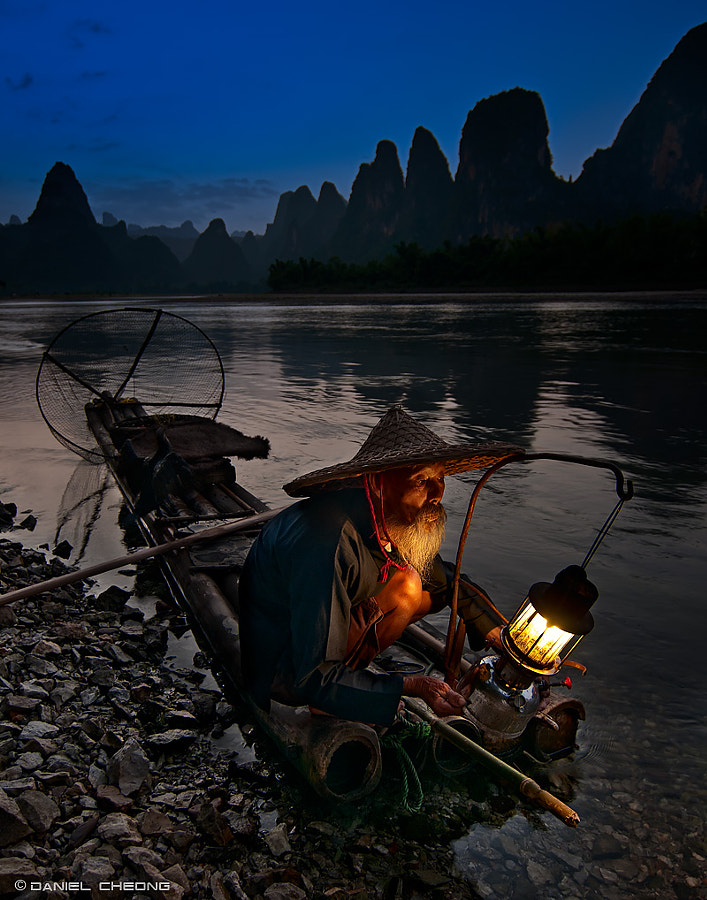 Cormorant fisherman in Guilin, China