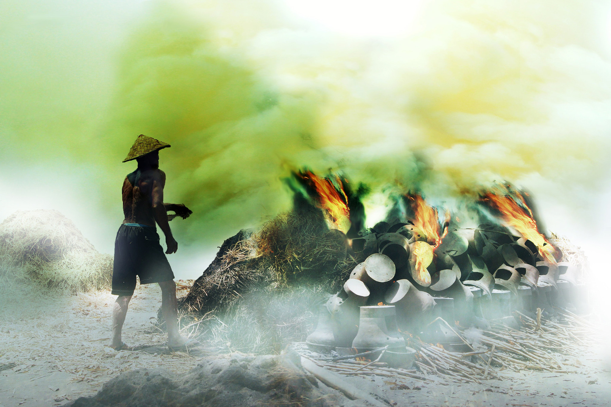 Photograph burning of pottery by 3 Joko on 500px
