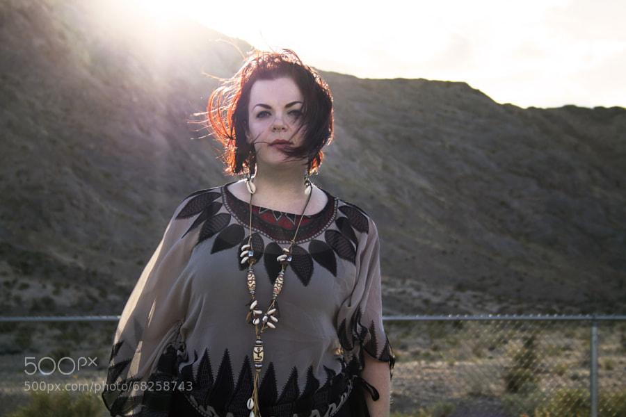 Danielle at Lone Mountain.