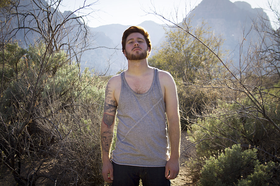 Aaron at Red Rock Canyon.