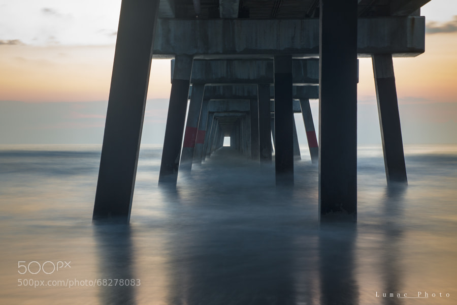 Photograph sunrise under the pier by Laurent LEO on 500px