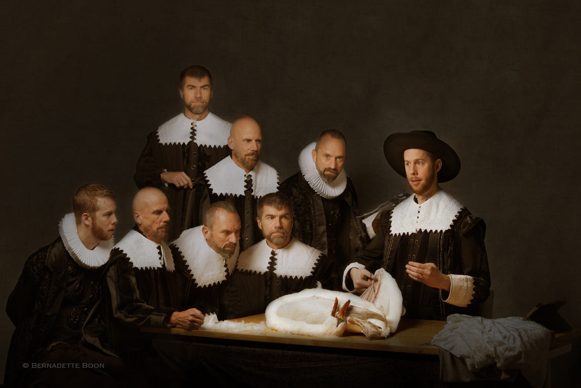 Remake The Anatomy Lesson of Dr Nicolaes Tulp by Bernadette Boon ...