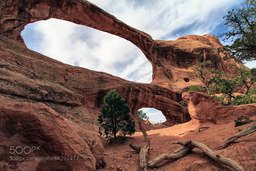 Photograph Double O Arch | Arches NP, Utah, USA by Matthias Huber on 500px