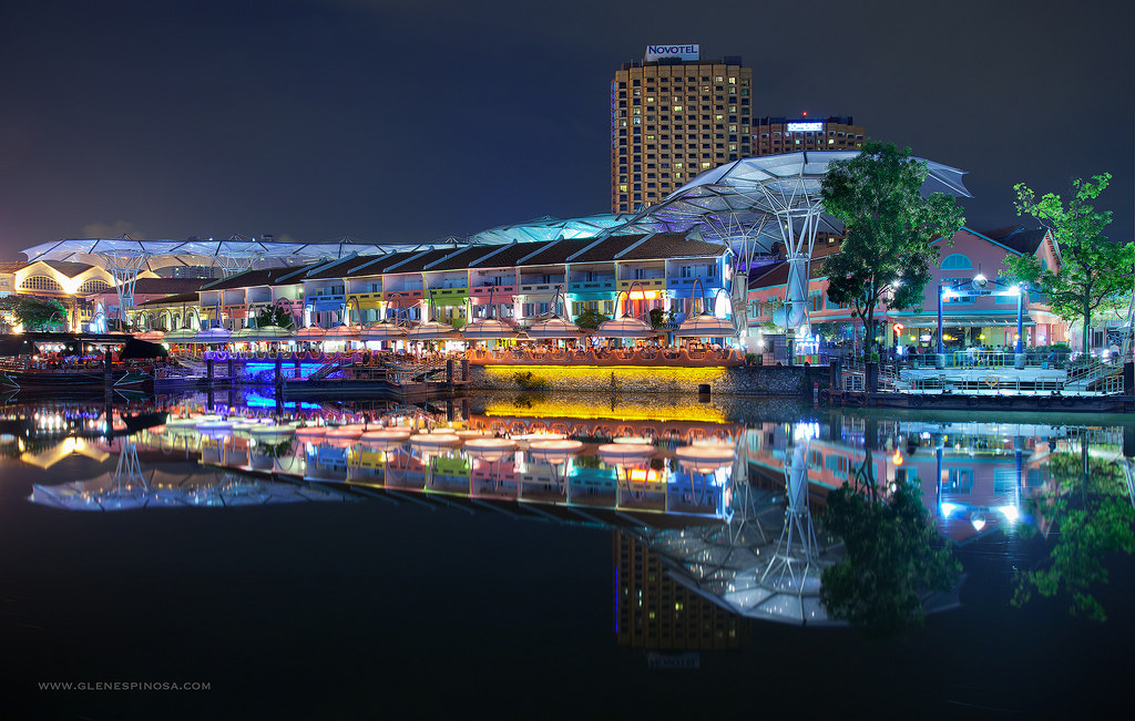 Photograph Reflections and Colors of Clark Quay by Glen Espinosa  on 500px