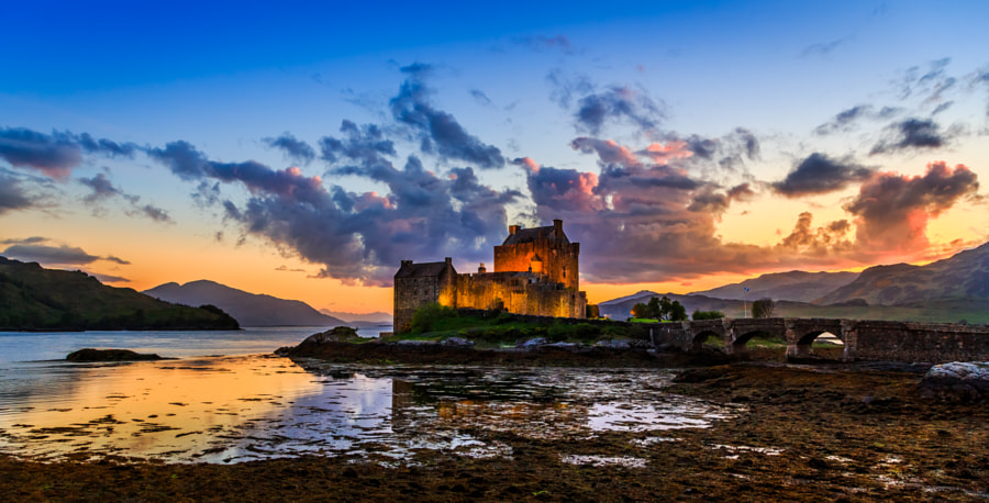 Sunset at Eilean Donan Castle by Joachim Lindenmann on 500px.com