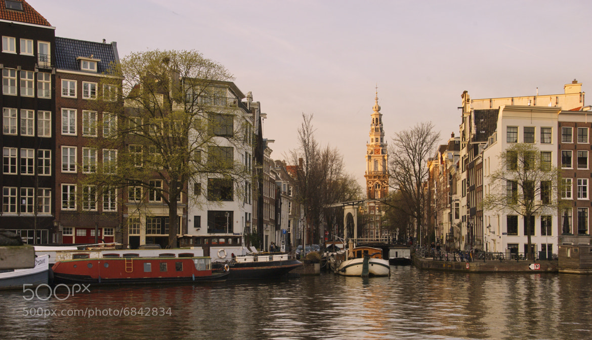 Photograph Zuiderkerk viewed from the Amstel River, Amsterdam by Robert Williams on 500px