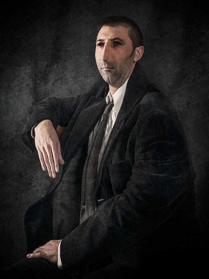 Portrait of Man with BlacK Dress