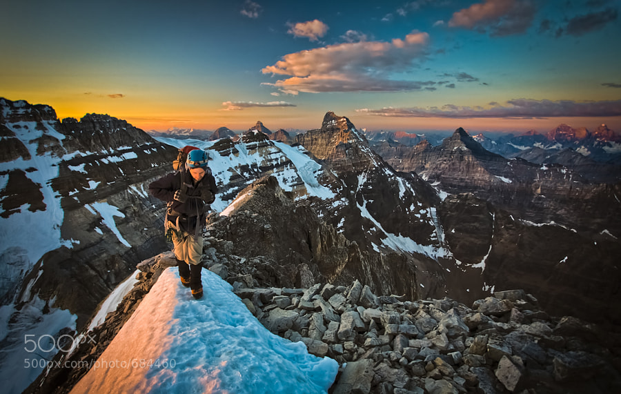 Photograph First Light on Mount Victoria by Paul Zizka on 500px