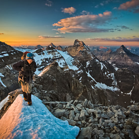 First Light on Mount Victoria by Paul Zizka (PaulZizkaPhoto)) on 500px.com