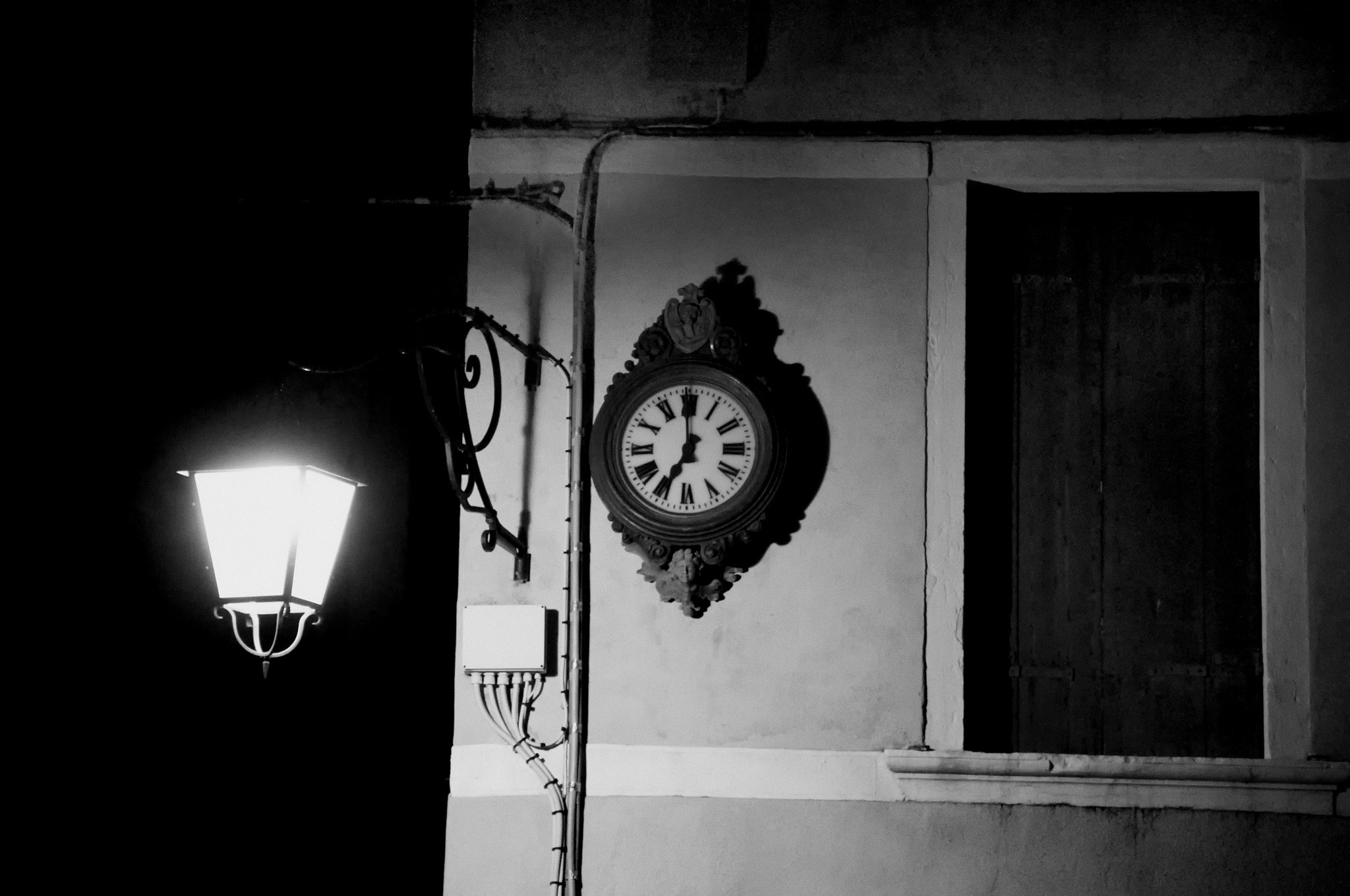 Photograph Lamp and the clock by Jiri Vatka on 500px