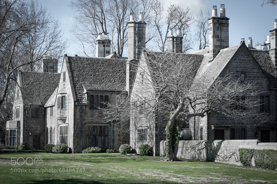 Alternate name: Time Machine. Edsel Ford Mansion still plays tricks in your eyes. Is it there or is it a memory?