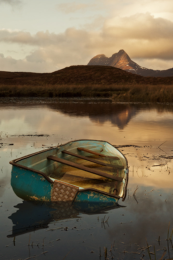 Photograph Sunken Boat to Suilven by Andy Wilson on 500px