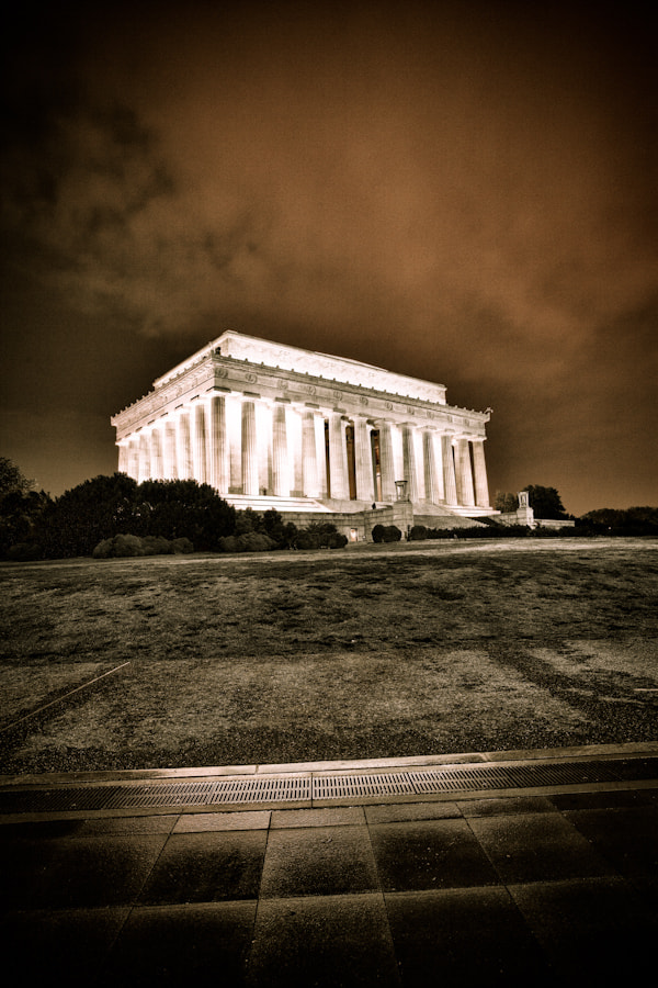 Photograph Lincoln Memorial Dramatic by Philipp Wedel on 500px