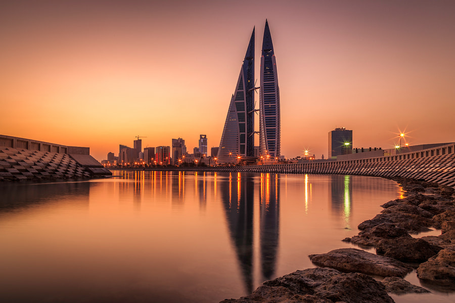 ManamaSunrise, Bahrain by Marcelo Castro on 500px.com