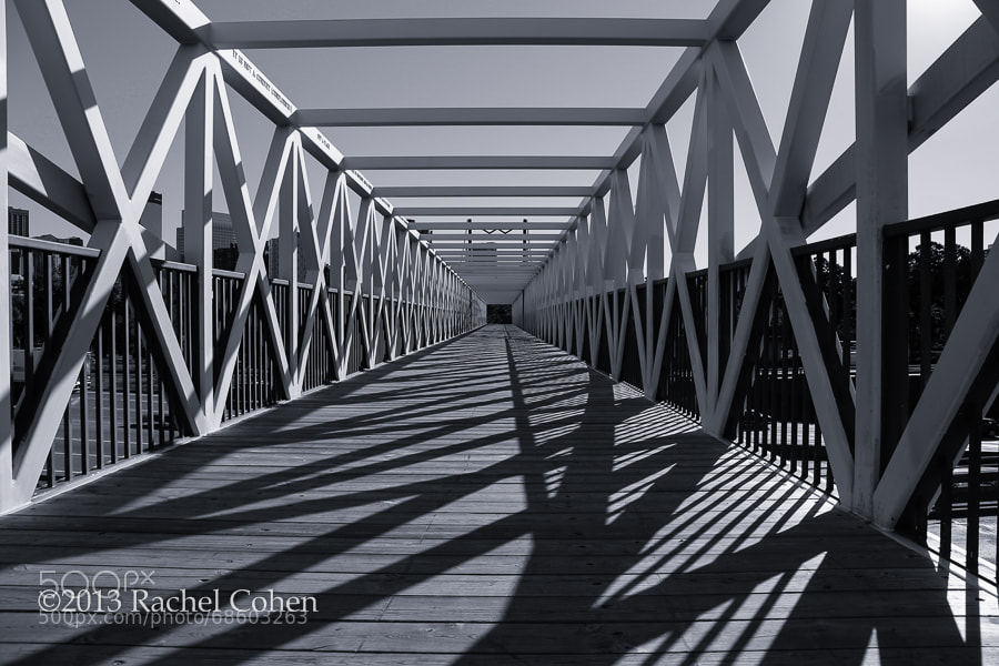"""Irene Hixon Whitney Bridge"" 2 mono  All images protected by U.S. and International copyright laws.  No image may be used as a whole, in part, on blogs, in publications or in any other manner without the written permission of Rachel Cohen.  (C) 2013 Rachel Cohen ""All Rights Reserved"""