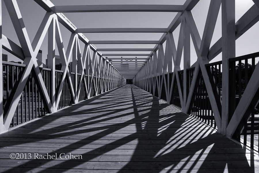 """""""Irene Hixon Whitney Bridge"""" 2 mono  All images protected by U.S. and International copyright laws.  No image may be used as a whole, in part, on blogs, in publications or in any other manner without the written permission of Rachel Cohen.  (C) 2013 Rachel Cohen """"All Rights Reserved"""""""