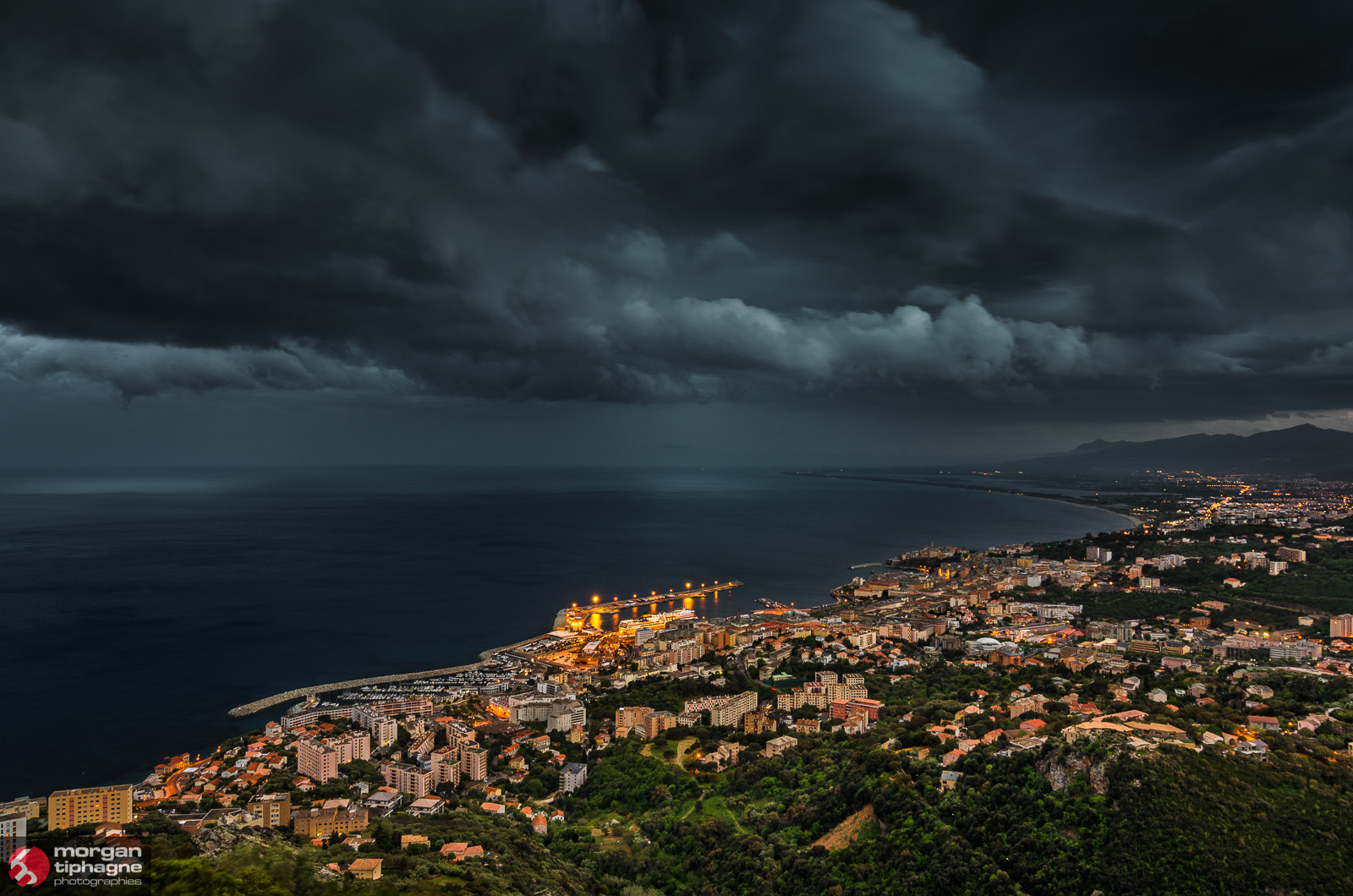 Photograph Night is coming on Bastia by Morgan Tiphagne on 500px