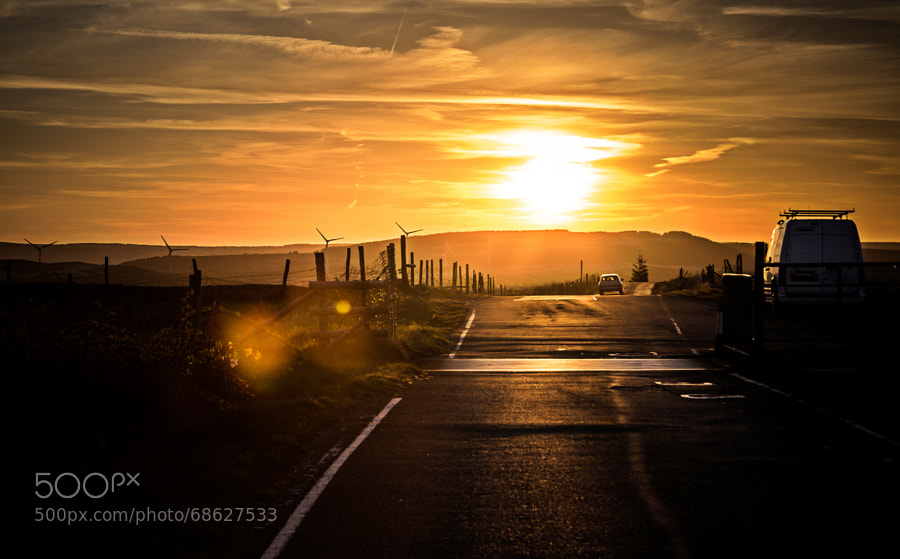 Photograph Pontypridd Mountain Road, Sunset by Dean Merry on 500px