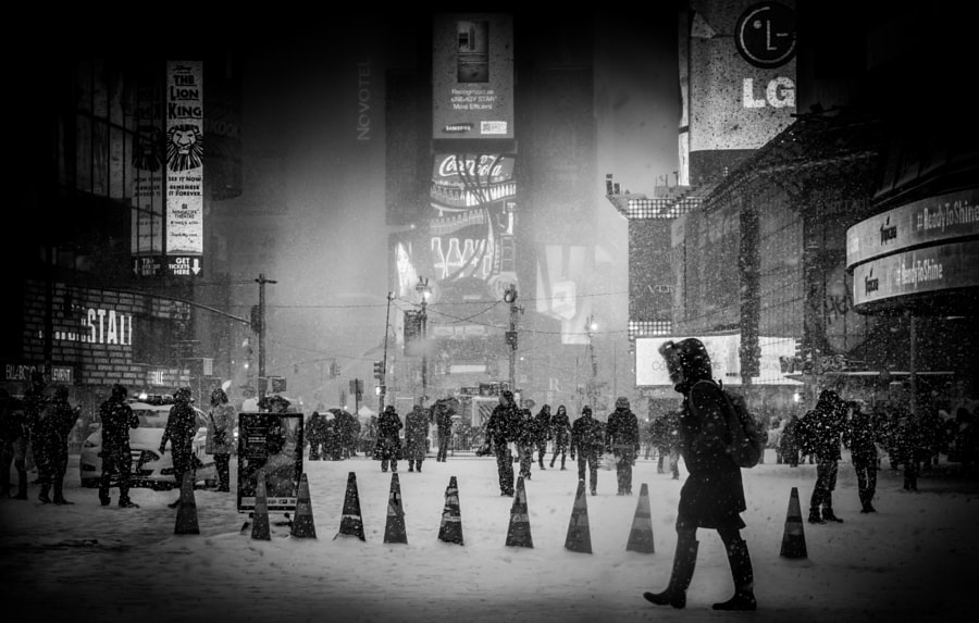 Photograph Times Square Blizzard NYC by Dan Martland on 500px