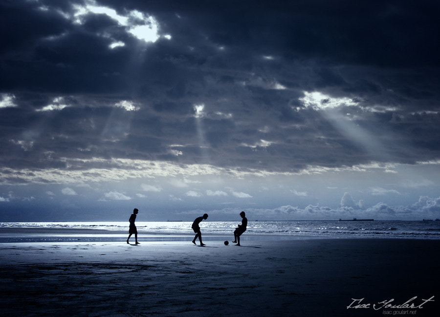 Photograph Football on the Beach by Isac Goulart on 500px