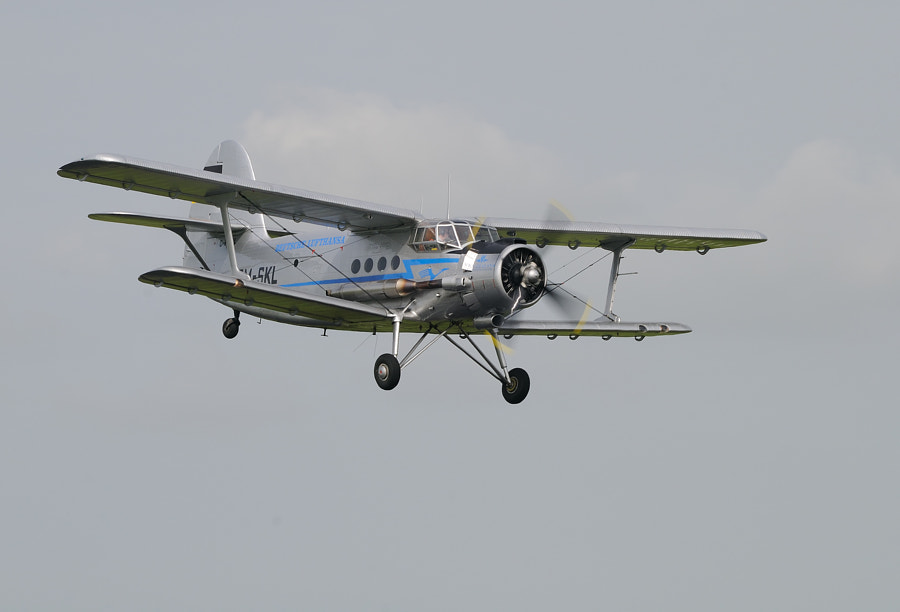 """The Antonov An-2 (Russian nickname: """"Annushka"""" or """"Annie"""") is a Soviet mass-produced single-engine biplane utility/agricultural aircraft designed and manufactured by the Antonov Design Bureau since 1946.  Regards and have a nice day,  Harry"""