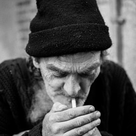 Smoking beggar by Alexandre Trudeau-Dion (DiscardedPhotography)) on 500px.com