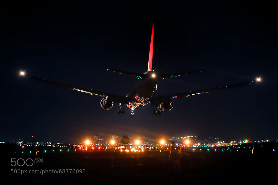 Photograph Night Landing by Azul Obscura on 500px