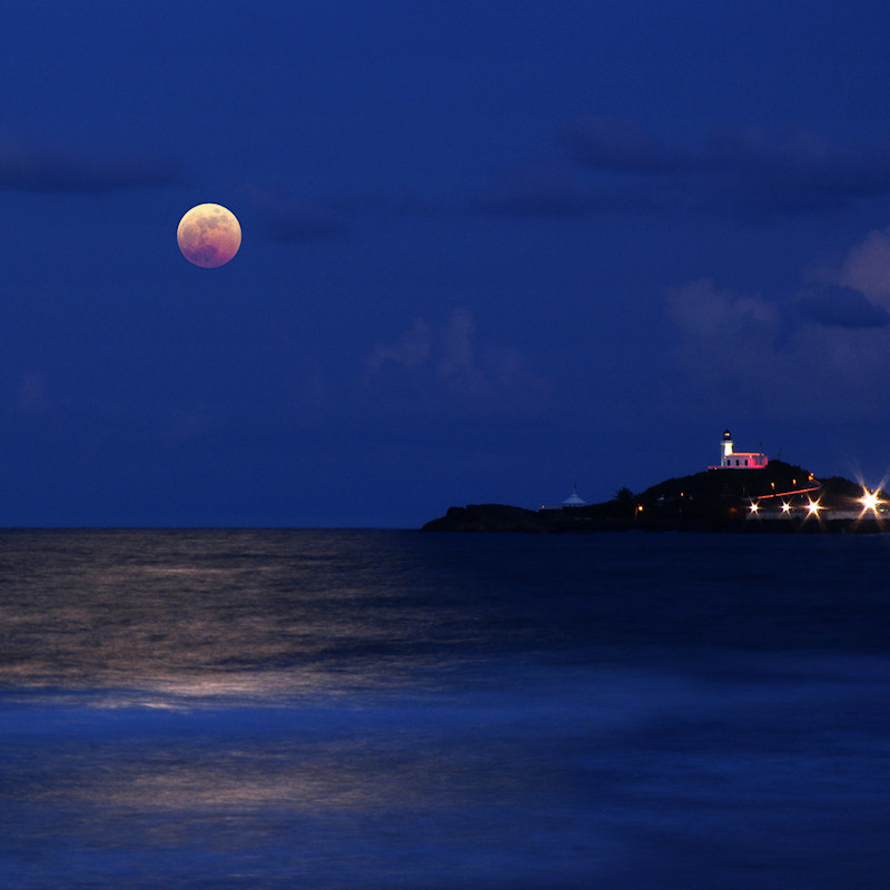 Photograph Eclipse at the Lighthouse by Carlos Gotay on 500px