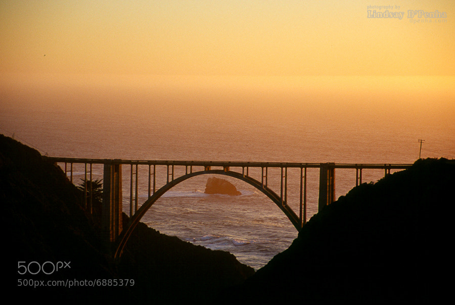 Photograph Bixby Bridge at sunset by Lindsay D'Penha on 500px