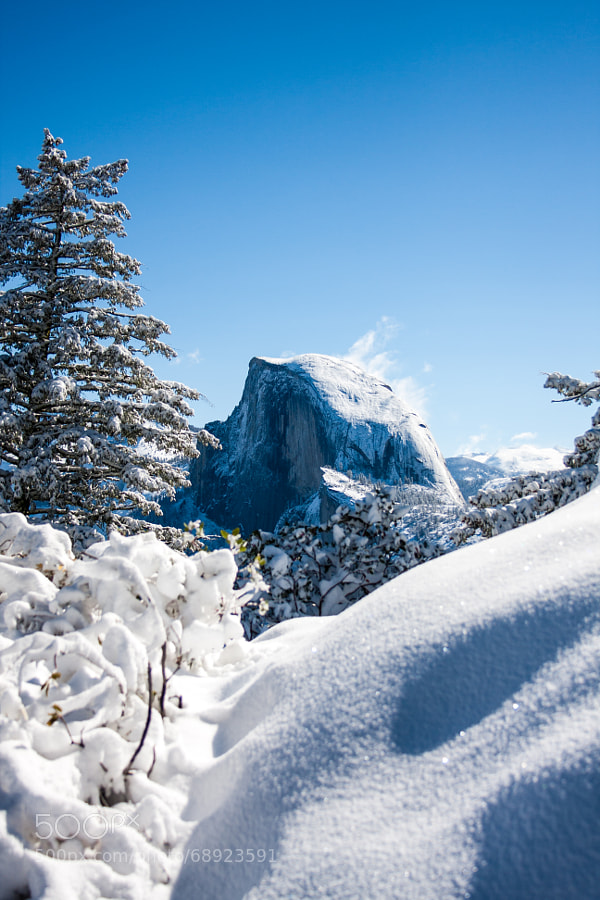 Snowy Half Dome by toddkoji