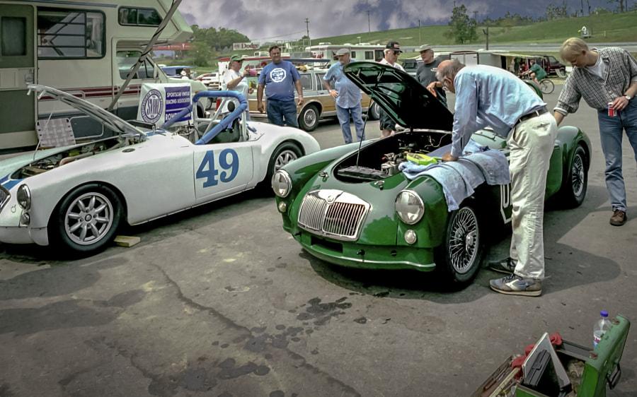 MGA Racers Paddock Vignette
