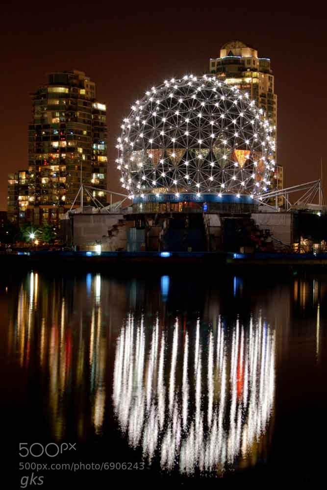 Photograph Science World at night by Gail Stephan on 500px
