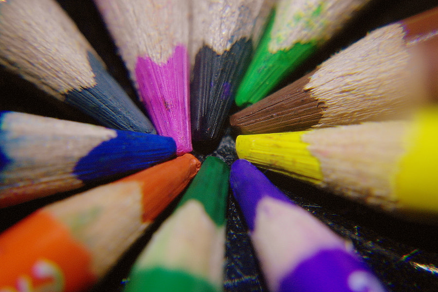 colored pencils..