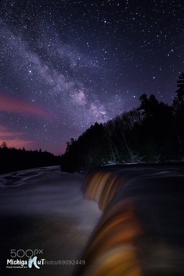Photograph Milky Way over Tahquamenon Falls Upper Michigan by John McCormick on 500px