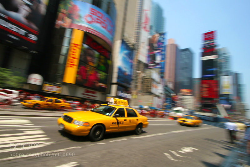 Photograph Yellow Cab, Times Square by Tim de Groot on 500px