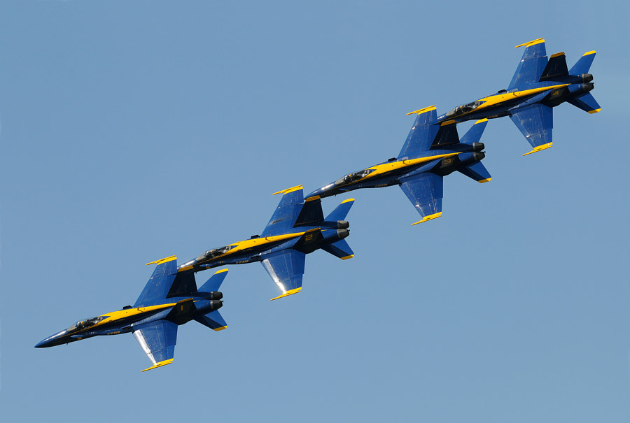 Four of the Blue Angles during an Airshow at the Marine Corps Air Station in Beaufort, South Carolina, USA.  Regards and have a nice weekend,  Harry