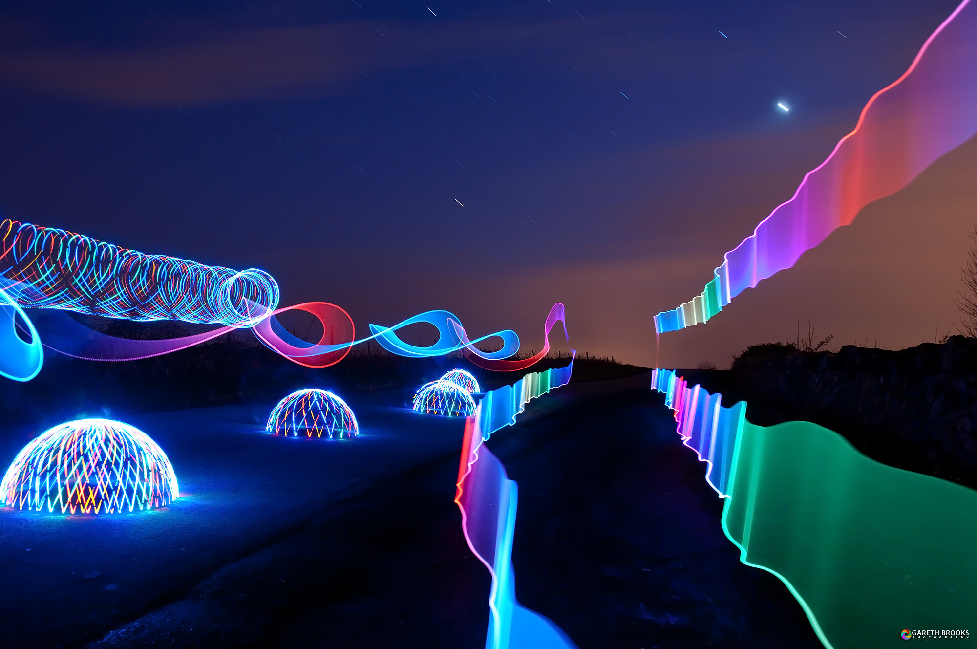 Photograph Ribbons, Domes and Star Trails by Gareth Brooks on 500px