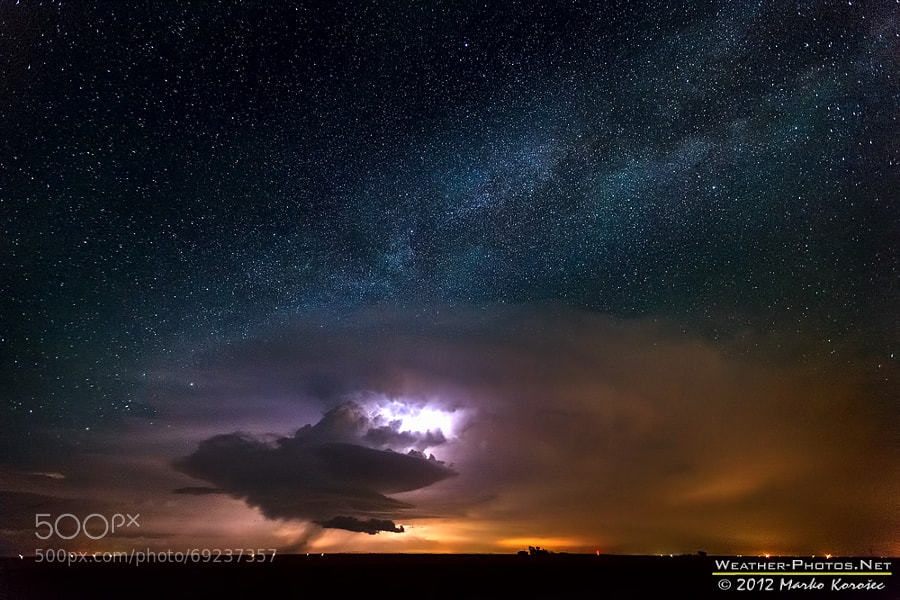 Photograph Milky Way supercell by Marko Korošec on 500px