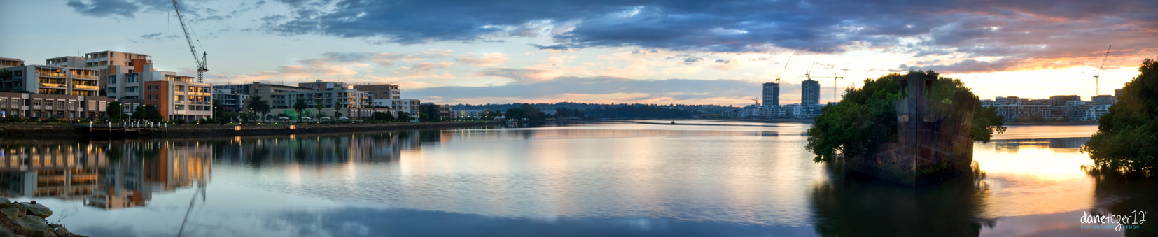 Photograph Homebush Waterfront and shipwreck by Dane Tozer on 500px