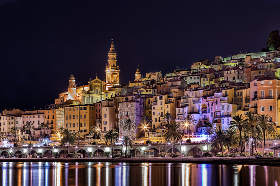 Night Menton by Alexander Novikov on 500px.com