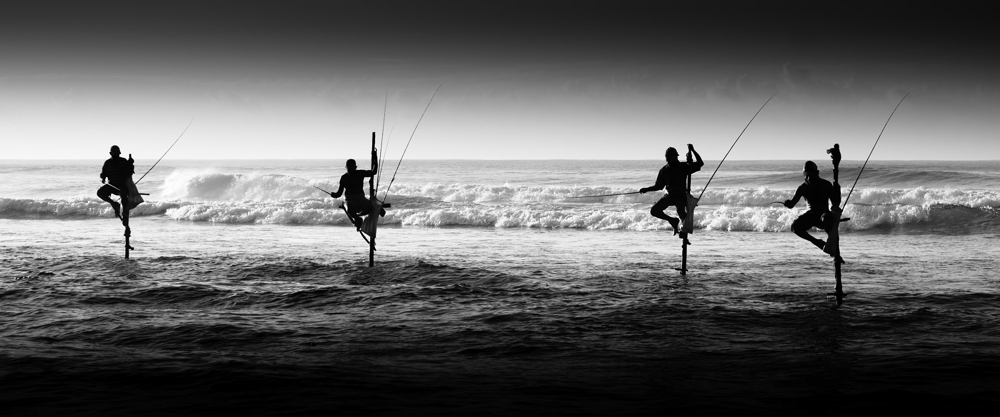 Photograph Sri Lankan Stilt Fishermen by Alexander Stephan on 500px