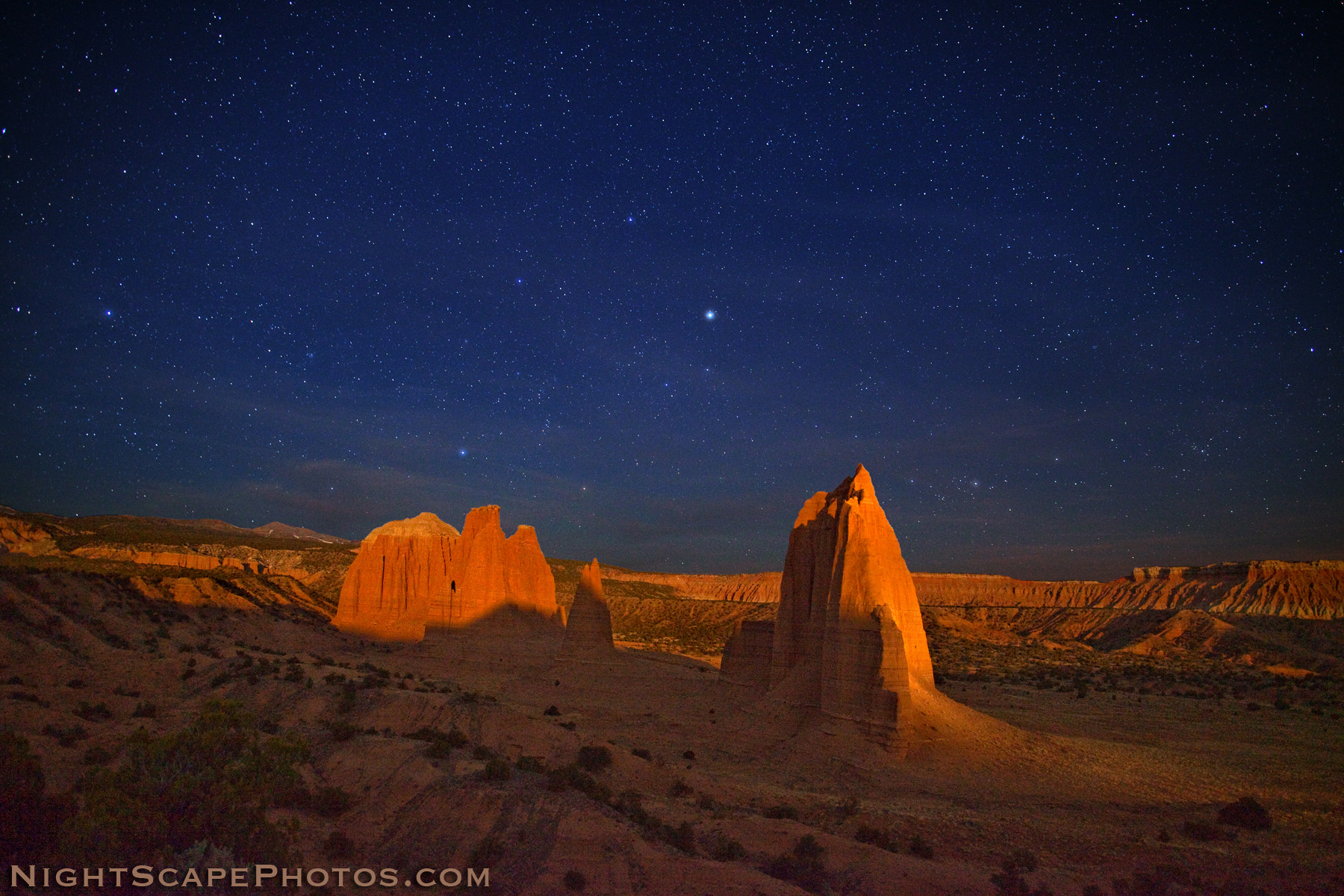 Photograph Moonlight across Cathedral Valley by Royce's NightScapes on 500px