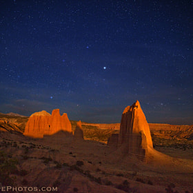 Moonlight across Cathedral Valley by Royce's NightScapes (nightscape)) on 500px.com