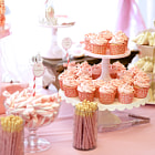 Постер, плакат: Baby Shower Cupcakes and Sandwiches