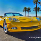 Постер, плакат: 2008 Yellow Corvette
