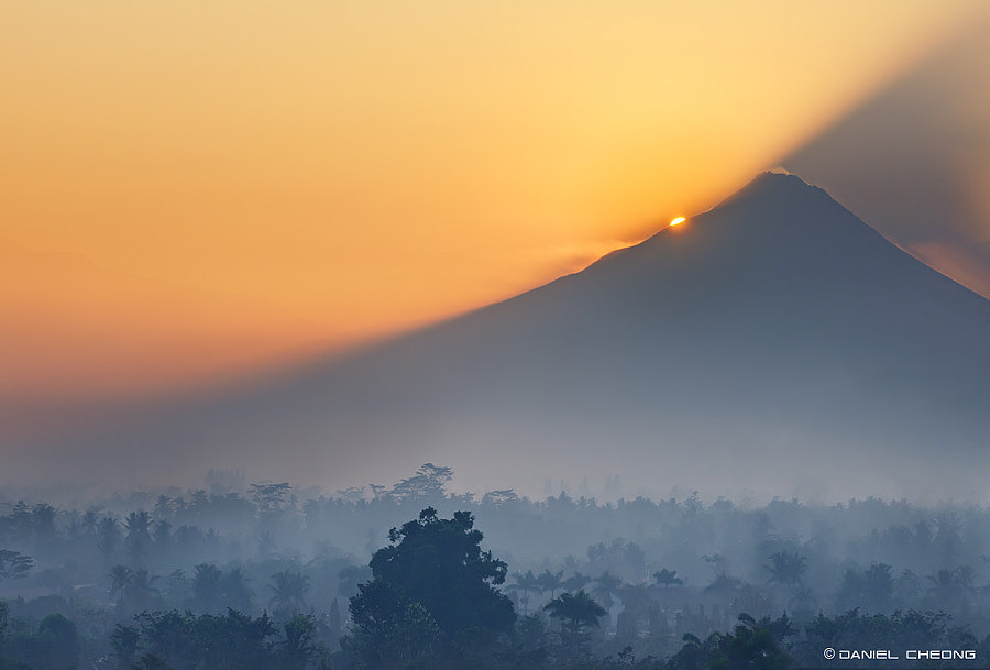Shot from Borobudur Temple, Central Java, Indonesia
