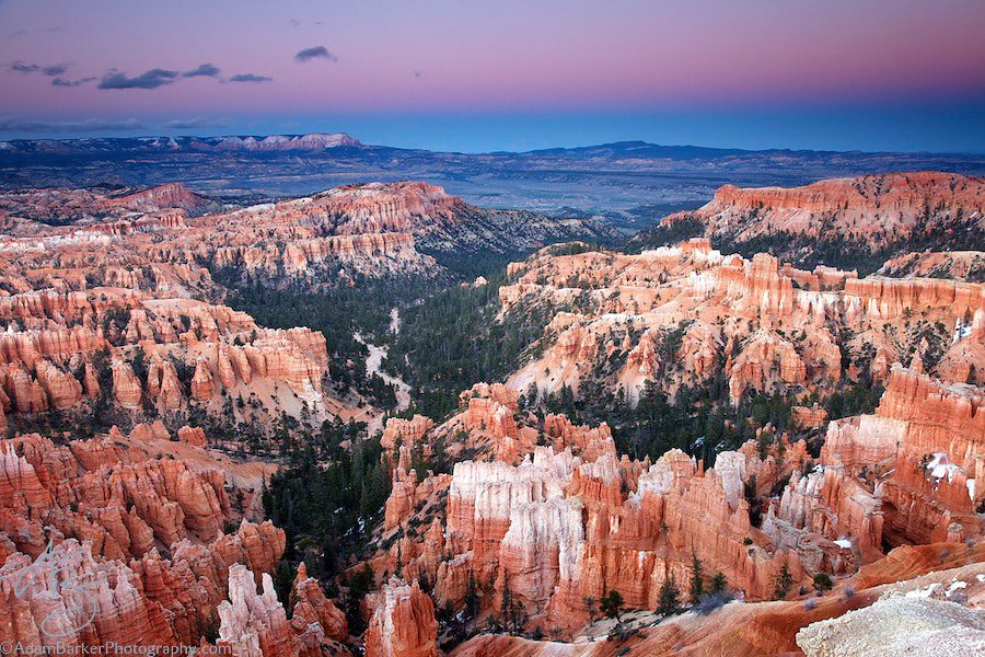 Photograph Dusk at Bryce Canyon by Adam Barker/AdamBarkerPhotography.com on 500px